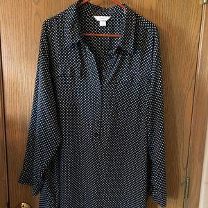 CJ Banks women's plus polka dot blouse
